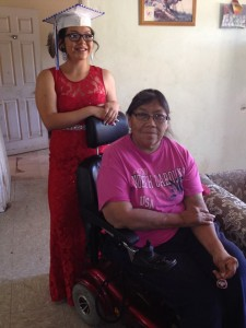 Leticia Gonzales and her grandmother Jeanette Barlow