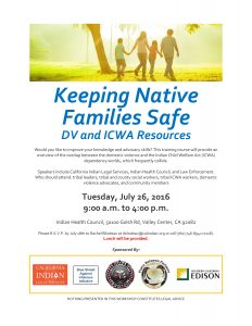 Keeping Native Families Safe flyer